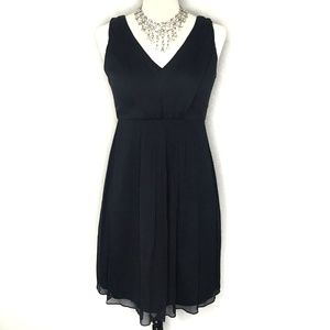 J. Crew Louisa Silk Chiffon Black Cocktail Dress